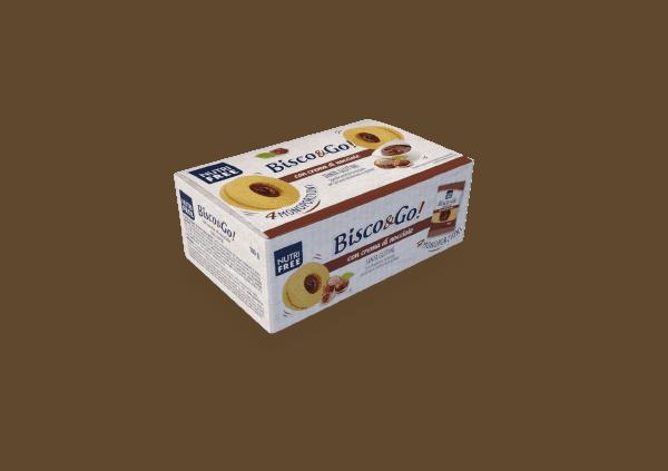 Nutrifree Keksi Bisco & Go z lešnikovo kremo brez glutena